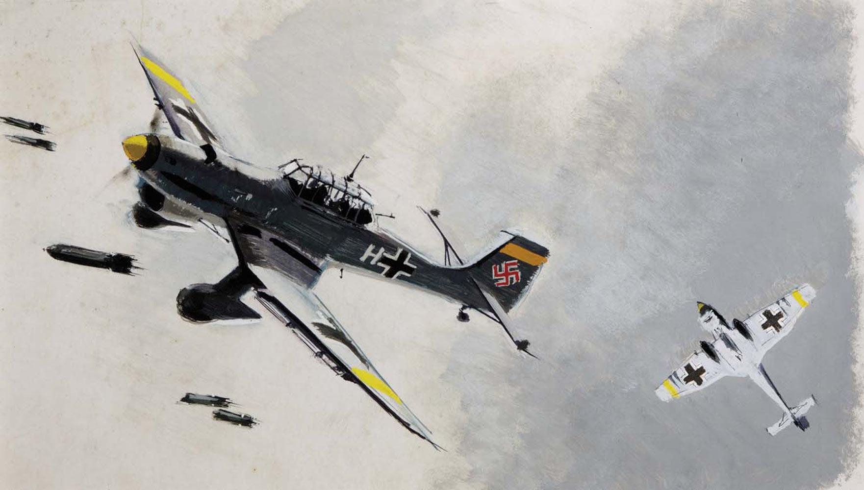 Brenet Albert. Бомбардировщики Junker 87- (Stuka).