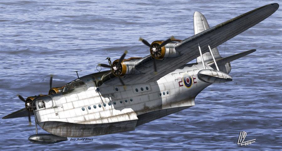 Gomez Luis David. Летающая лодка Short Sunderland Mk III.
