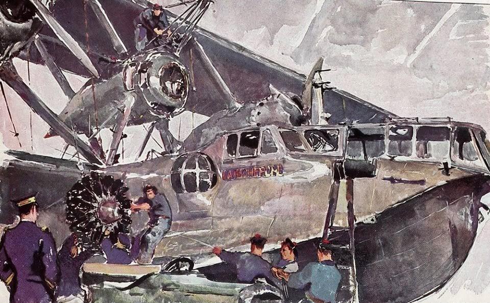 Brenet Albert. База летающих лодок.