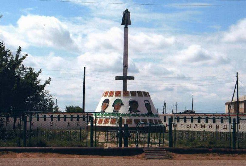 с. Жангала. Мемориал воинам Великой Отечественной войны.