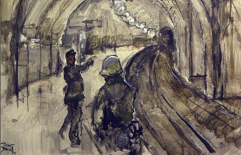Descals Ernest. Бой в метро.