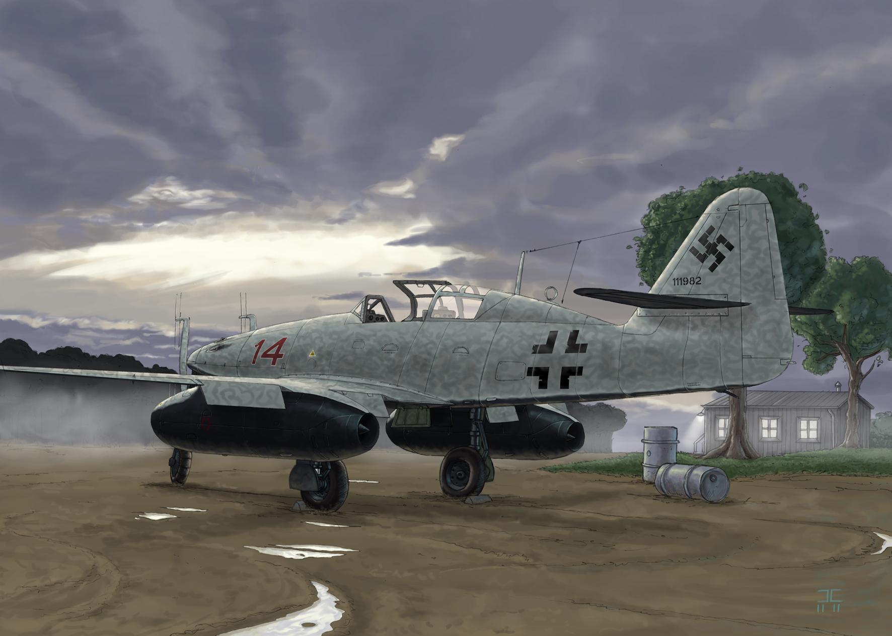 Camp Julien. Реактивный истребитель Me-262 Nachtjager.