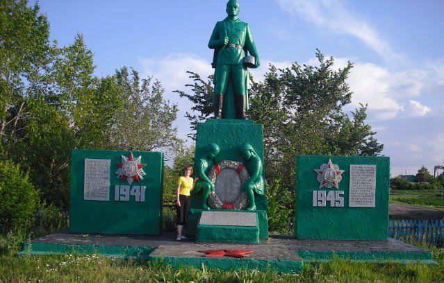 с. Рублевка Аккайынского р-на. Памятник воинам, павшим в годы Великой Отечественной войны.