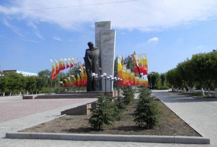 г. Темиртау. Общий вид памятника Неизвестному солдату.