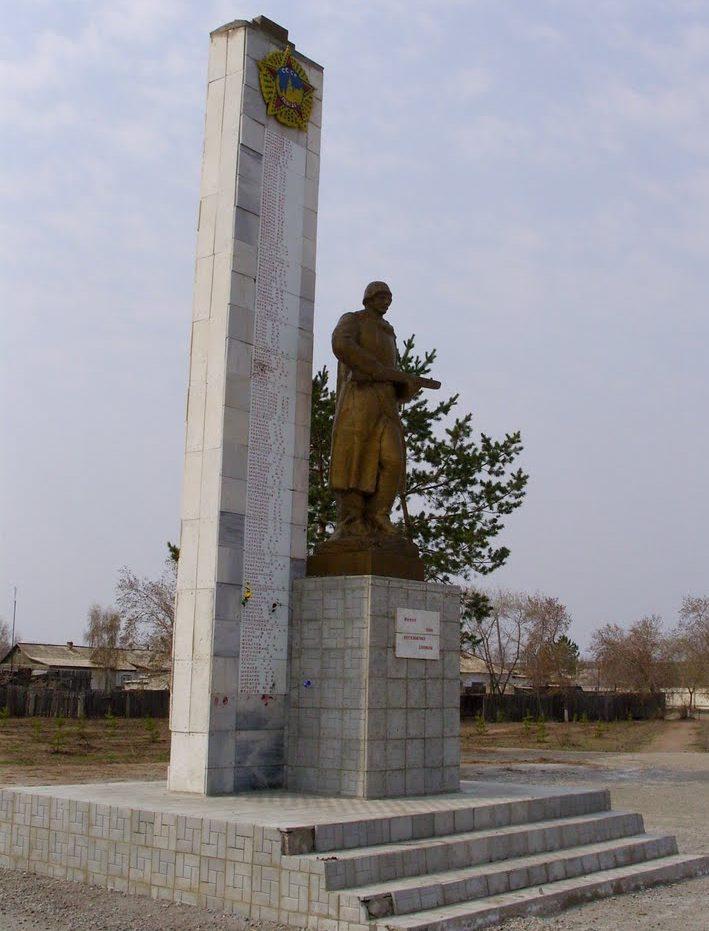 с. Теренколь Качирского р-на. Памятник Победы.