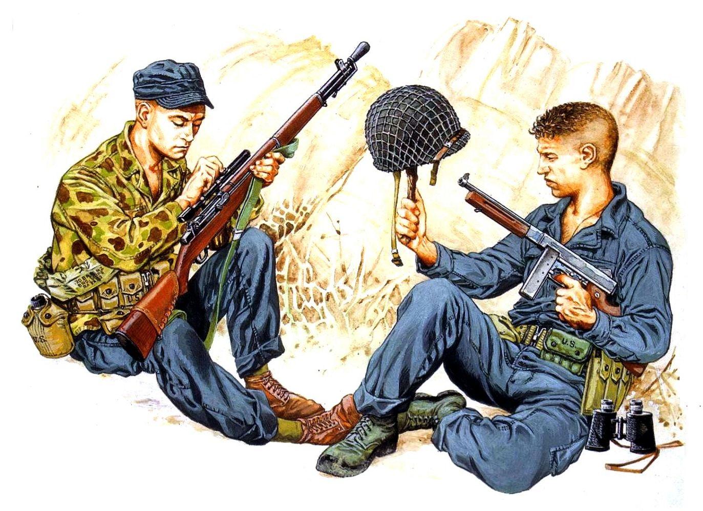 Bujeiro Ramiro. Американская снайперская пара.