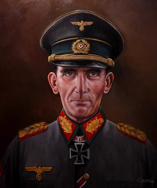 Clauzel José-Ferré. Генерал Agustín Muñoz Grandes в немецкой форме.