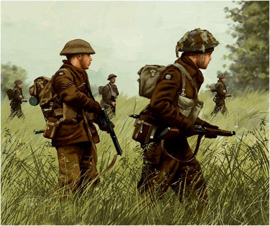 Cueto Dionisio Alvarez. Британские пехотинцы.