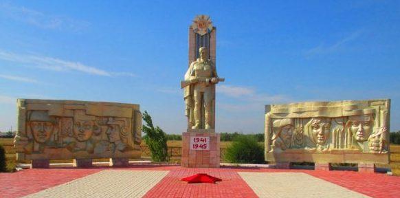 с. Акку (Лебяжье) Лебяжинского р-на. Мемориал воинам, погибшим в годы Великой Отечественной войны.