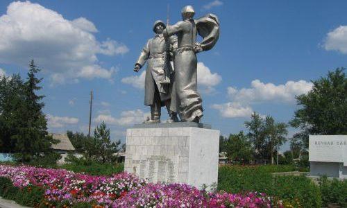 п. Затобольск Костанайского р-на. Памятник воинам, погибшим в годы Великой Отечественной войны.