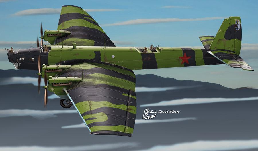 Gomez Luis David. Бомбардировщик ТБ-3.