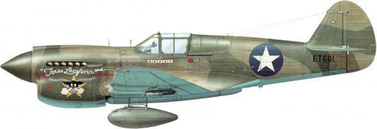 Dekker Thierry. Истребитель Curtiss P-40E-1.