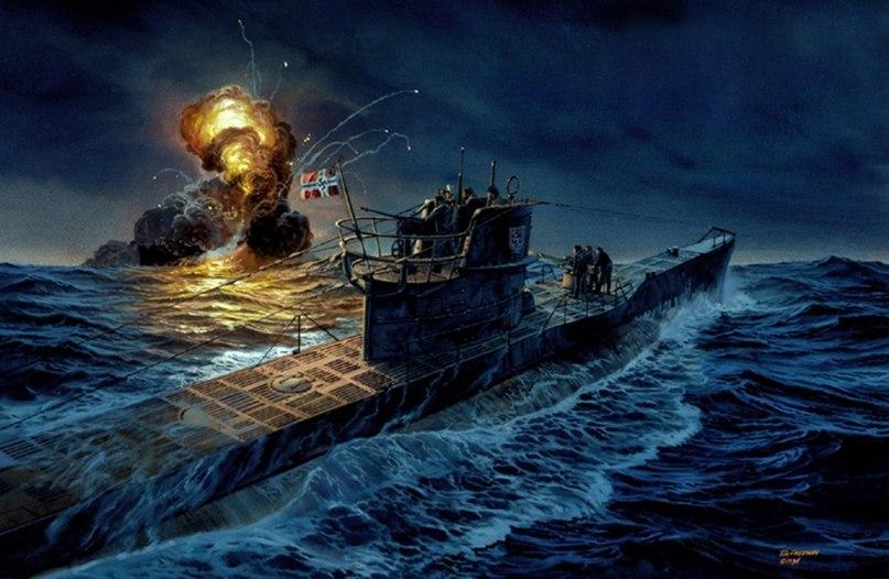 Freeman Tom. Подлодка U-132 атакует английский патрульный корабль.