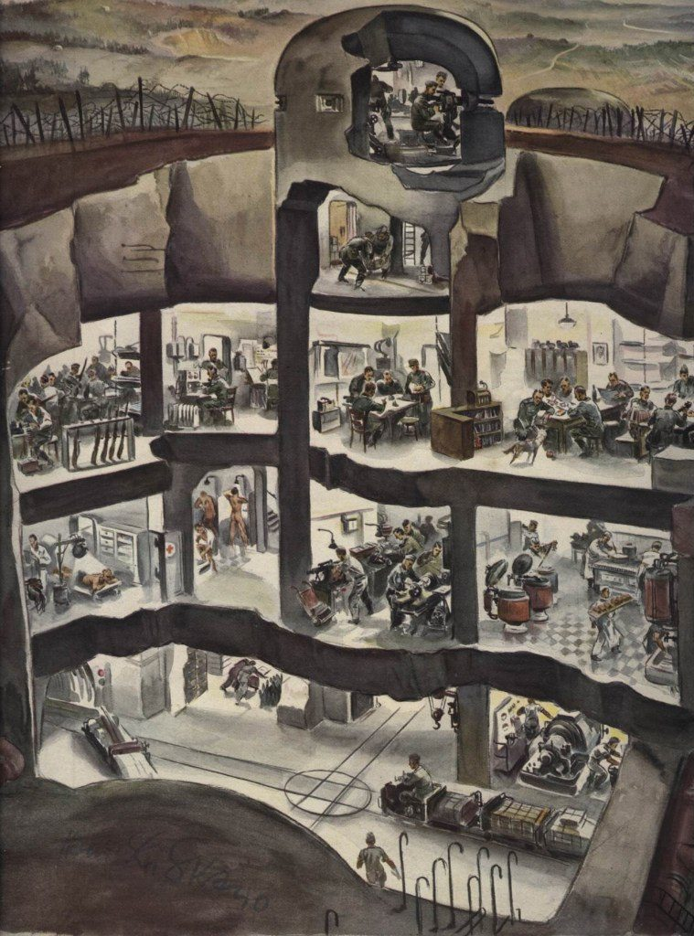 Один из бункеров линии Зигфрида глазами художника Liska Hans.