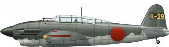 Guillou Jean Marie. Бомбардировщик Yokosuka D4Y1-C.