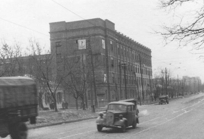Угол бульвара Шевченко и улицы Владимирской. 1941 г.