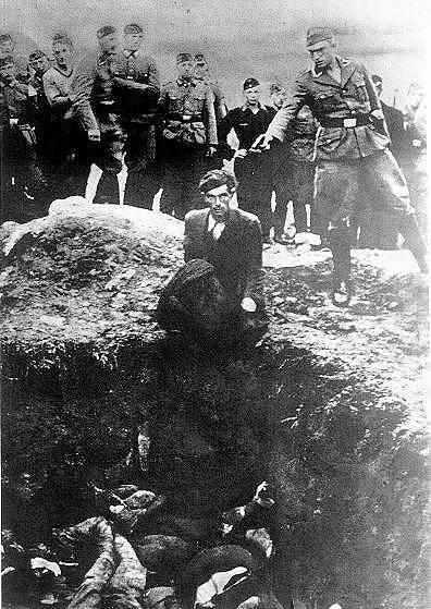 Расстрел узников гетто в Тучинке. Октябрь, 1941 г.