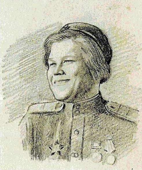 Аб Павел. Портрет медсестры Зины Коробовой-Кушковой.