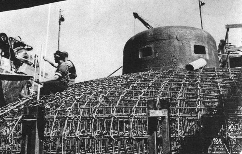 Строительство бункера. 1938 г.