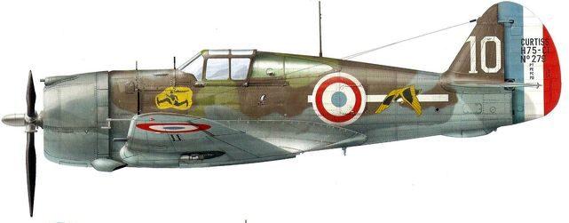 Dekker Thierry. Истребитель Curtiss H-75A-3.