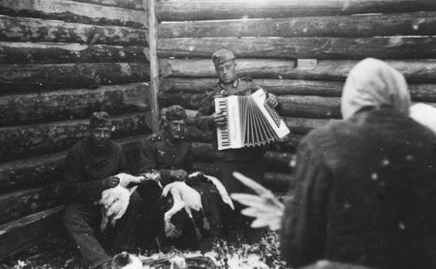 Сбор «пожертвований». Горловка. Сентябрь 1941 г.