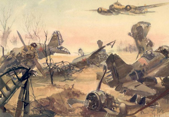 Liska Hans. Уничтоженный советский аэродром.