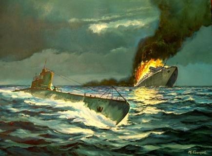 Guyot Michel. Гибель лайнера «Wilhelm Gustloff».