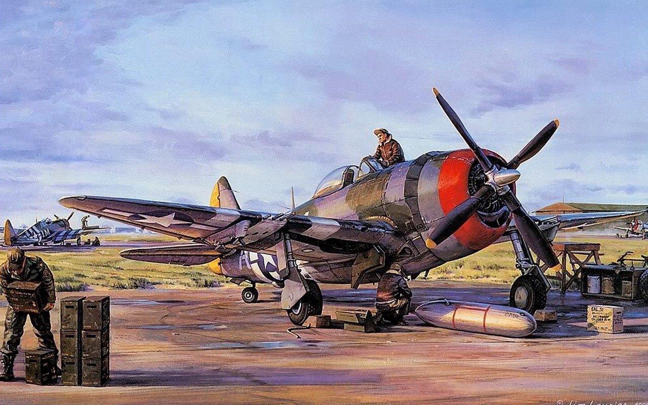 Hugault Romain. Истребитель Р-47.