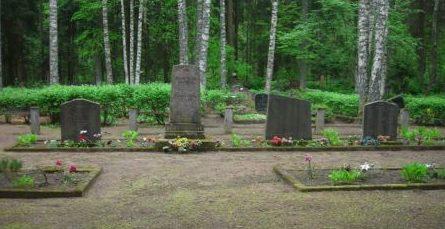 х. Вецрубас, волость Рубас, край Салдус. Памятник на воинских братских могилах на территории кладбища Рубас. На кладбище похоронены 293 воина, в т.ч. 18 неизвестных, погибших в годы войны.