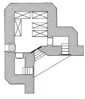 План ДОТа типа R10 без боевого отделения.