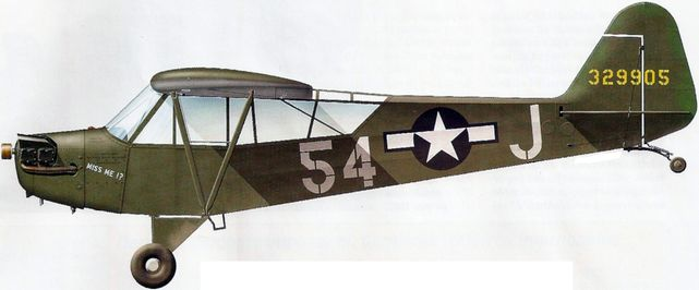Dhorne Vincent. Самолет связи Piper L-4H.