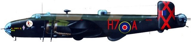 Petit Jean-Jacques. Бомбардировщик Handley Page Halifax.