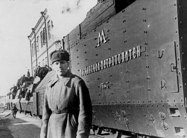 Бронепоезд «Московский метрополитен». 21 марта, 1943 г.