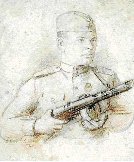 Аб Павел. Портрет сержанта И. Маврина.