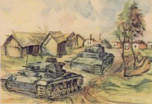 Hensel О. Танки в деревне Дубровска.