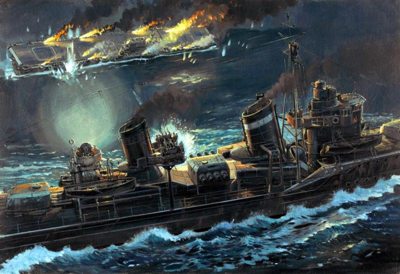 Howard Gerrard. Атака на авианосец «Hornet».