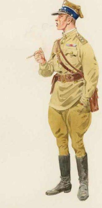 Knotel Herbert. Капитан польской пехоты.
