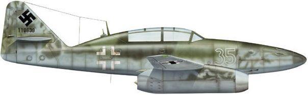 Dhorne Vincent. Истребитель Me.262B-1a.