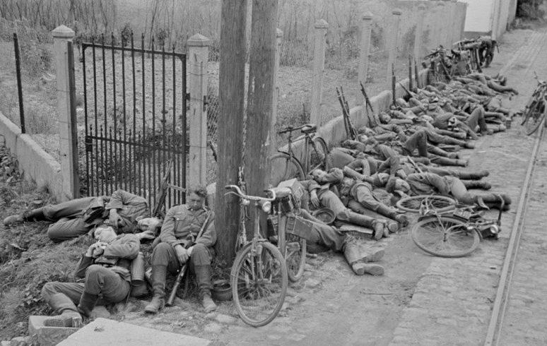 Привал велосипедистов.