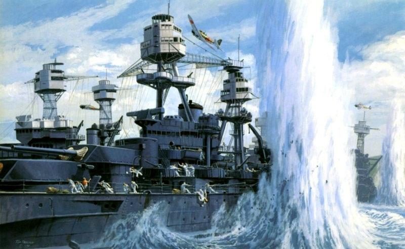 Howard Gerrard. Линкор Oklahoma в Pearl Harbor.