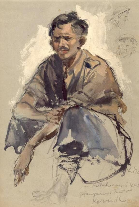 Liska Hans. Индийский солдат в плену.