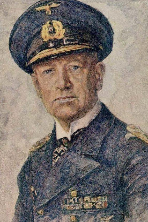 Oskar Graf. Портрет Erich Raeder.