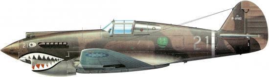 Guillou Jean Marie. Истребитель Curtiss H-81-A-2.
