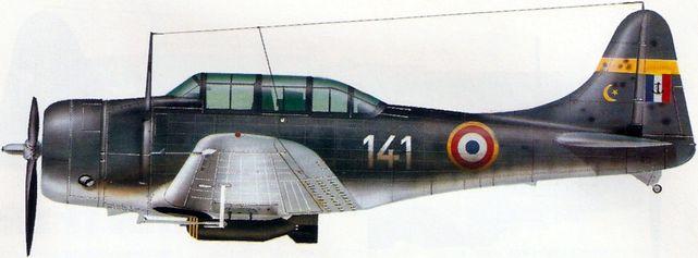 Petit Jean-Jacques. Палубный бомбардировщик Douglass SBD «Dauntless».