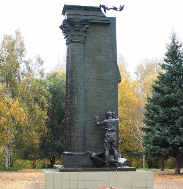 с. Краснощеково. Общий вид монумента.