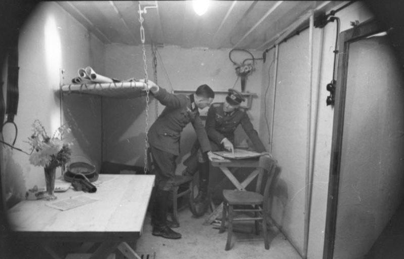 Помещение офицеров в бункере.