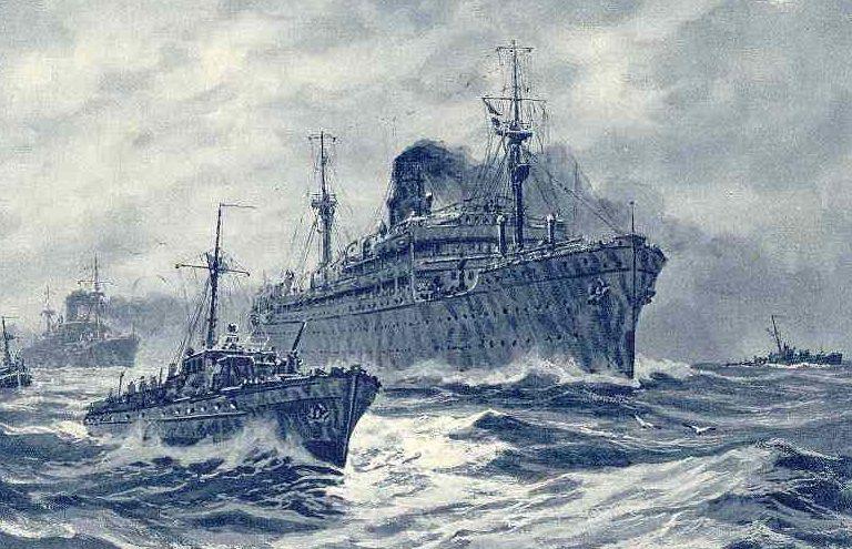 Bock Adolf. Захват немецкими кораблями турбоэлектрохода «Иосиф Сталин».