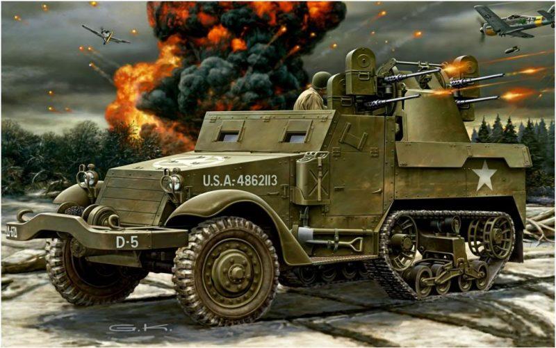 Klawek G. ЗСУ M-16 ó M2 Quad.