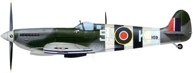 Petit Jean-Jacques. Истребитель Supermarine Spitfire Mk.IX 5A-K.