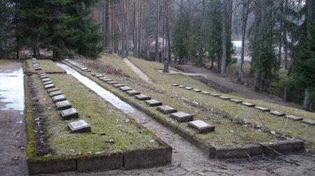 Общий вид братских могил.